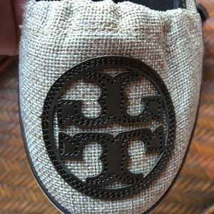 Tory Burch Shoes - Tory Burch Beige Canvas Shoe w/ Brown Leather Trim
